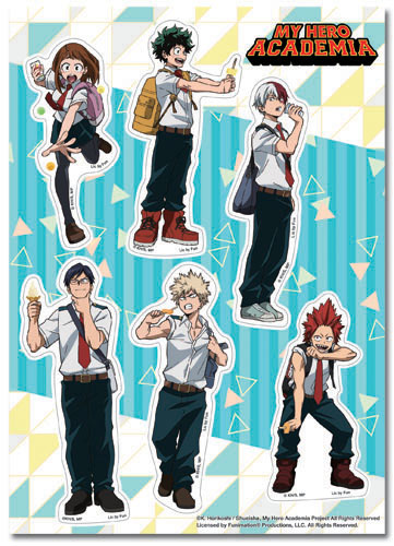 My Hero Academia - Group Ice Cream Sticker Set, an officially licensed product in our My Hero Academia Stickers department.