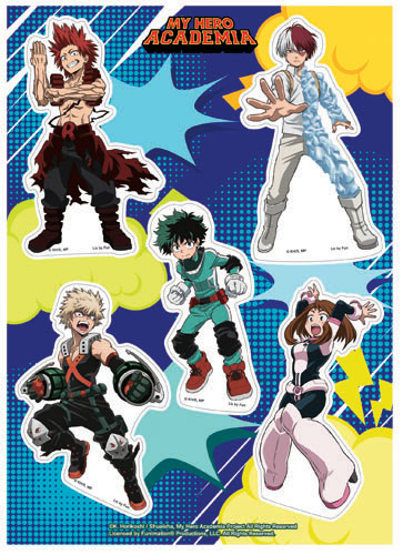 My Hero Academia - Group Hero Costume #3 Sticker Set, an officially licensed product in our My Hero Academia Stickers department.