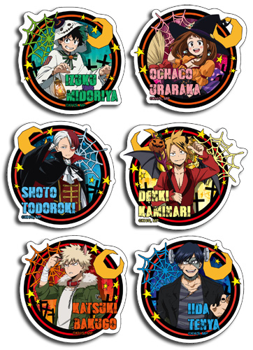 My Hero Academia - Halloween Die-Cut Sticker Set, an officially licensed product in our My Hero Academia Stickers department.