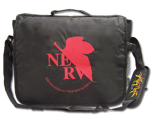 Evangelion Nerv Logo Messenger Bag, an officially licensed product in our Evangelion Bags department.