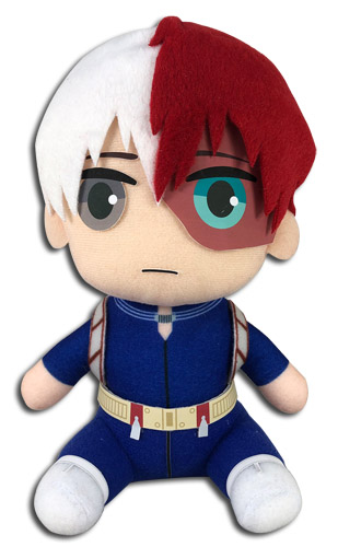 My Hero Academia - Todoroki Hero Costume Sitting Plush 8'', an officially licensed product in our My Hero Academia Costumes & Accessories department.