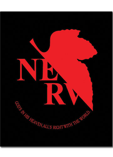 Evangelion Nerv Logo Throw Blanket, an officially licensed Evangelion Blanket/ Linen