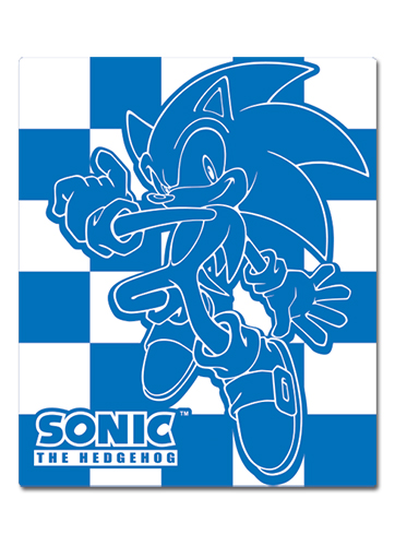 Sonic Hedgehog Sonic Blanket officially licensed Sonic Blankets & Linen product at B.A. Toys.