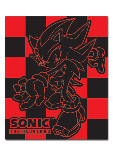 Sonic Hedgehog Shadow Blanket officially licensed Sonic Blankets & Linen product at B.A. Toys.