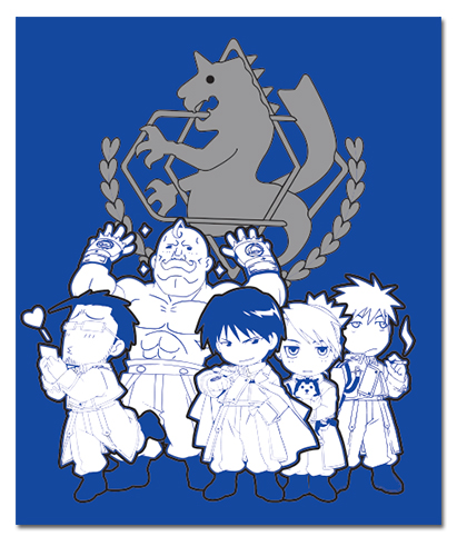 Fullmetal Alchemist Sd Military Throw Blanket officially licensed Fullmetal Alchemist Blankets & Linen product at B.A. Toys.