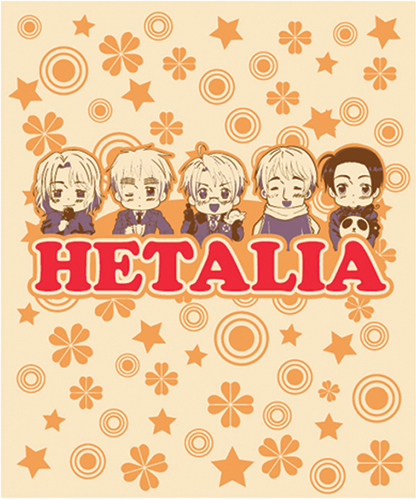 Hetalia - America, France, Russia And China Throw Blanket officially licensed product at B.A. Toys.