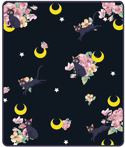 Sailor Moon - Luna Throw Blanket, an officially licensed product in our Sailor Moon Blankets & Linen department.
