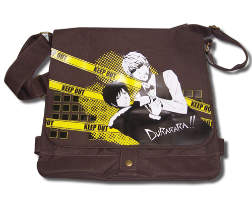 Durarara!! Izaya And Shizuo Contrast Messenger Bag, an officially licensed Durarara Bag