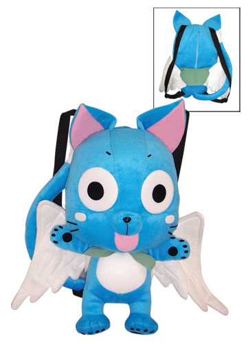 Fairy Tail Happy Plush Bag, an officially licensed product in our Fairy Tail Bags department.