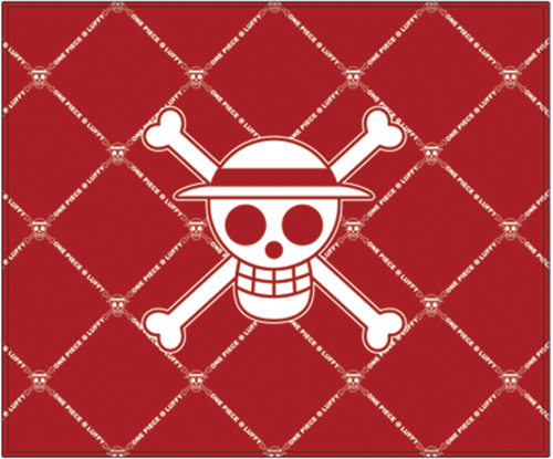 One Piece Luffy Skull Icon Throw Blanket officially licensed One Piece Blankets & Linen product at B.A. Toys.