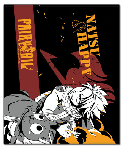Fairy Tail - Natsu & Hapoy Throw Blanket, an officially licensed product in our Fairy Tail Blankets & Linen department.