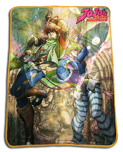Jojo - Group Sublimation Throw Blanket, an officially licensed product in our Jojo'S Bizarre Adventure Blankets & Linen department.