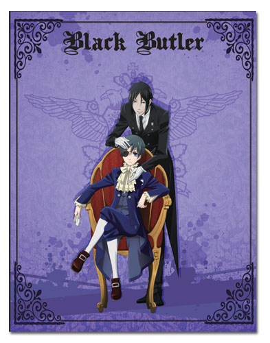 Black Butler - Sebastian And Ciel Throw Blanket, an officially licensed product in our Black Butler Blankets & Linen department.