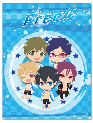 Free! - Sd Group Sublimation Throw Blanket, an officially licensed Free! product at B.A. Toys.