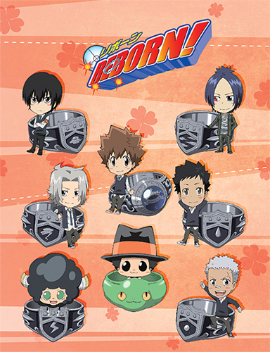 Reborn! - Sd 10 Group Throw Blanket, an officially licensed Reborn! product at B.A. Toys.