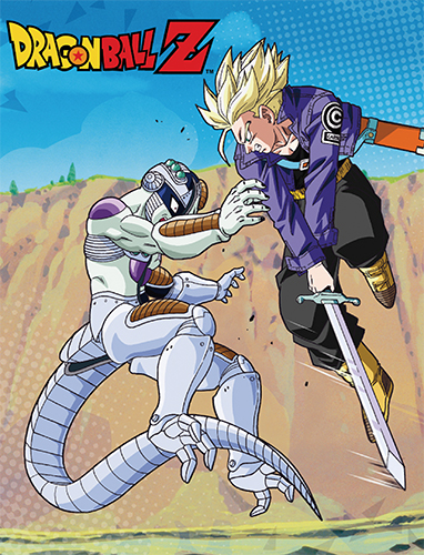 Dragon Ball Z - Mecha Frieza & Trunks Throw Blanket, an officially licensed product in our Dragon Ball Z Blankets & Linen department.