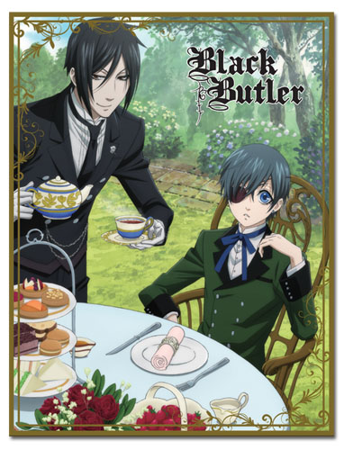 Black Butler - Ciel & Sebastian Afternoon Tea Sublimation Throw Blanket, an officially licensed product in our Black Butler Blankets & Linen department.