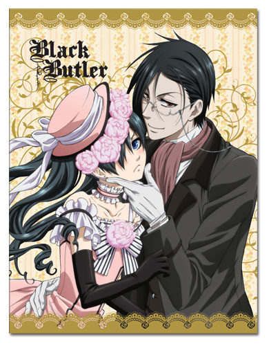 Black Butler - Ciel & Sebastian Dresses Sublimation Throw Blanket, an officially licensed Black Butler product at B.A. Toys.