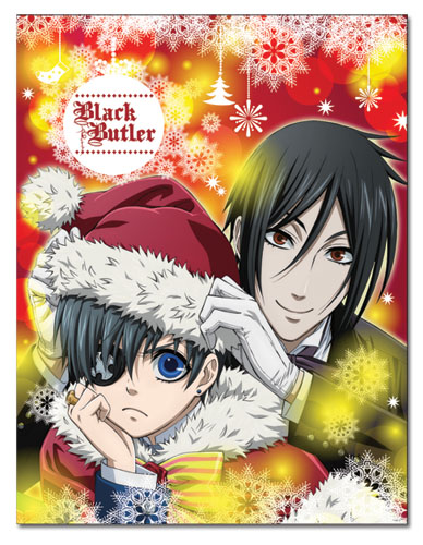Black Butler - Ciel & Sebastian Christmas Sublimation Throw Blanket, an officially licensed product in our Black Butler Blankets & Linen department.