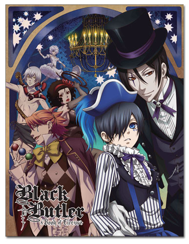 Black Butler - Ciel & Sebastian Circus Sublimation Throw Blanket, an officially licensed Black Butler product at B.A. Toys.