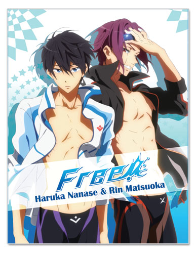 Free! - Haruka Nanase & Rin Matsuoka Sublimation Throw Blanket, an officially licensed product in our Free! Blankets & Linen department.