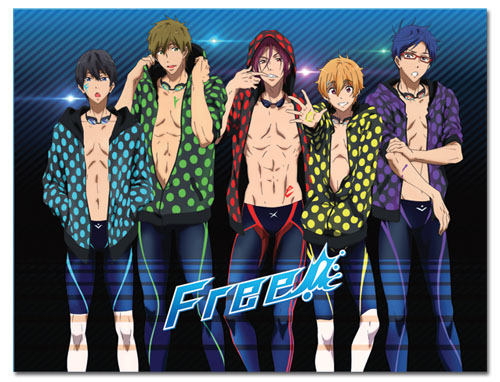Free! - Group With Dot Swimsuit Sublimation Throw Blanket, an officially licensed product in our Free! Blankets & Linen department.