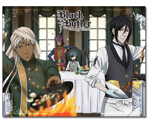 Black Butler - Group Cooking Sublimation Thorw Blanket, an officially licensed product in our Black Butler Blankets & Linen department.
