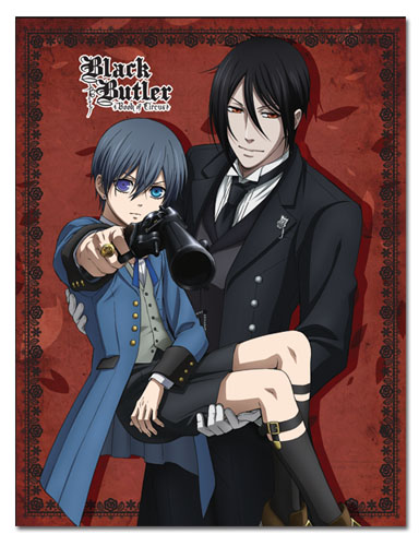 Black Butler - Ciel& Sebastian Sublimation Throw Blanket, an officially licensed product in our Black Butler Blankets & Linen department.