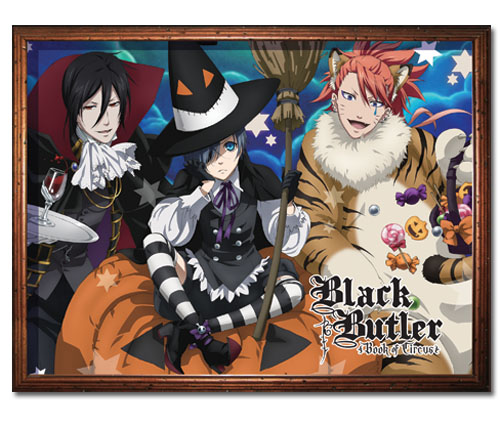 Black Butler - Halloween Group Sublimation Throw Blanket, an officially licensed product in our Black Butler Blankets & Linen department.