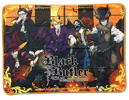 Black Butler B.O.C. - Grim Reaper Group Halloween Sublimation Throw Blanket, an officially licensed product in our Black Butler Book Of Circus Blankets & Linen department.