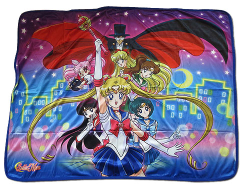 Sailor Moon R - Sailor Moon Group Sublimation Throw Blanket, an officially licensed product in our Sailor Moon Blankets & Linen department.