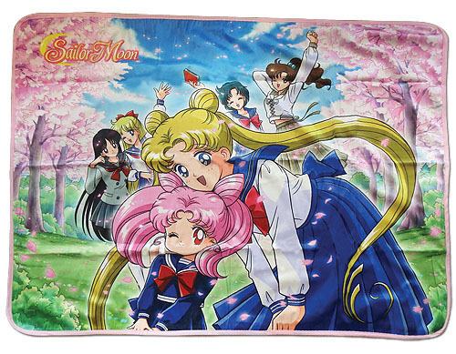 Sailor Moon R - Group Sublimation Throw Blanket, an officially licensed product in our Sailor Moon Blankets & Linen department.