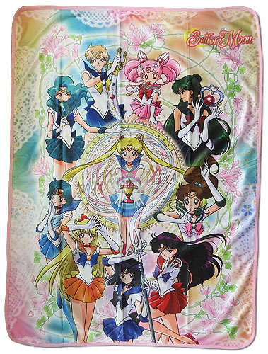 Sailor Moon S - Sailor Moon Group Sublimation Throw Blanket, an officially licensed product in our Sailor Moon Blankets & Linen department.