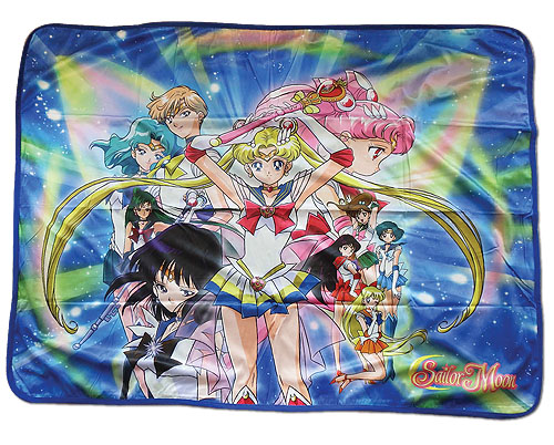 Sailor Moon S - Super Sailor Moon Group Sublimation Throw Blanket, an officially licensed product in our Sailor Moon Blankets & Linen department.