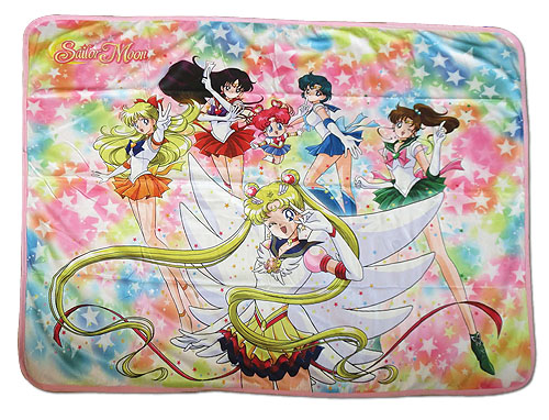 Sailor Moon Stars - Eternal Sailor Moon Group Sublimation Throw Blanket, an officially licensed product in our Sailor Moon Blankets & Linen department.