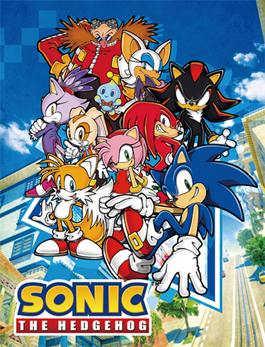 Sonic The Hedgehog - Big Group Sublimation Throw Blanket officially licensed Sonic Blankets & Linen product at B.A. Toys.