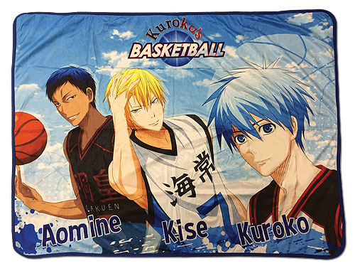 Kuroko's Basketball - Kuroko, Kise, & Aomine Sublimated Throw Blanket, an officially licensed product in our Kuroko'S Basketball Blankets & Linen department.