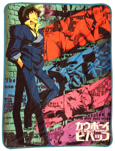 Cowboy Bebop - Spike Sublimation Throw Blanket, an officially licensed product in our Cowboy Bebop Blankets & Linen department.
