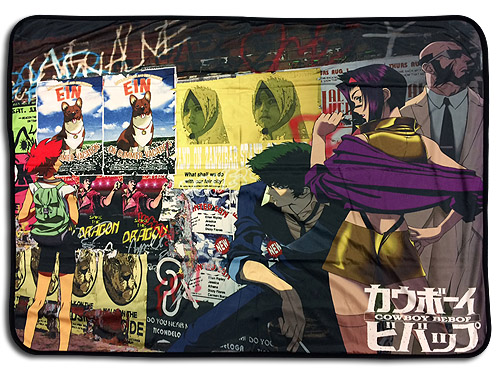 Cowboy Bebop - Group Sublimation Throw Blanket, an officially licensed product in our Cowboy Bebop Blankets & Linen department.
