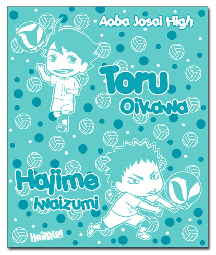 Haikyu!! - Toru & Hajime Throw Blanket, an officially licensed product in our Haikyu!! Blankets & Linen department.