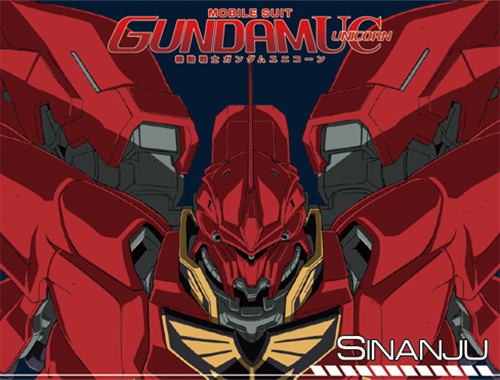 Gundam Uc - Sinanju Sublimation Throw Blanket, an officially licensed product in our Gundam Uc Blankets & Linen department.