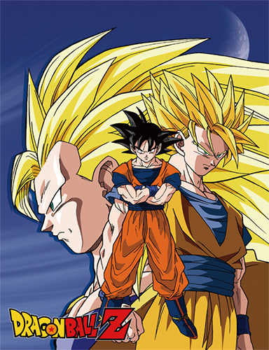 Dragon Ball Z - Goku Three Form Sublimation Throw Blanket, an officially licensed product in our Dragon Ball Z Blankets & Linen department.