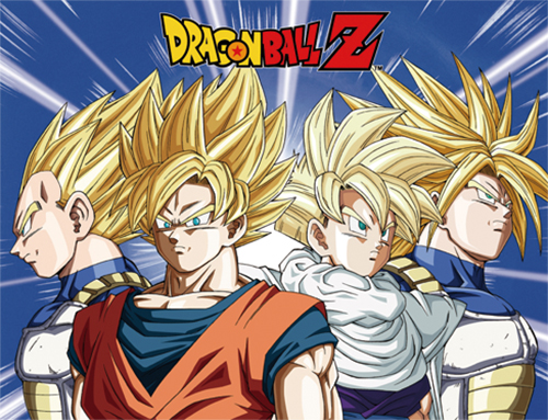 Dragon Ball Z - Ss Vegeta, Ss Goku Ss Gohan And Ss Trunks Sublimation Throw Blanket, an officially licensed product in our Dragon Ball Z Blankets & Linen department.