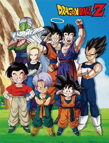 Dragon Ball Z - Group In Lawn Sublimation Throw Blanket, an officially licensed product in our Dragon Ball Z Blankets & Linen department.