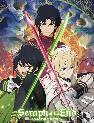 Seraph Of The End - Mikaela, Yuichiro And Guren Sublimation Throw Blanket, an officially licensed product in our Seraph Of The End Blankets & Linen department.