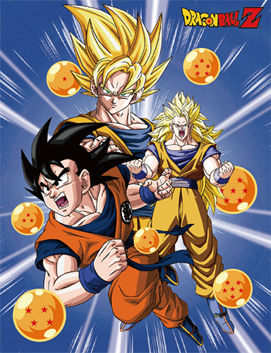 Dragon Ball Z - Goku 3-Form Sublimation Throw Blanket, an officially licensed product in our Dragon Ball Z Blankets & Linen department.