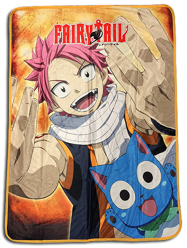 Fairy Tail - Natsu & Happy 3 Sublimation Throw Blanket, an officially licensed product in our Fairy Tail Blankets & Linen department.
