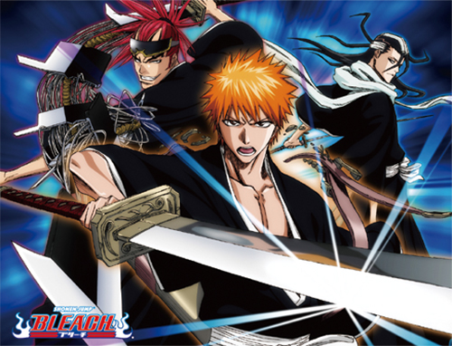 Bleach - Kurosaki, Byakuya & Renji Sublimation Throw Blanket, an officially licensed Bleach product at B.A. Toys.
