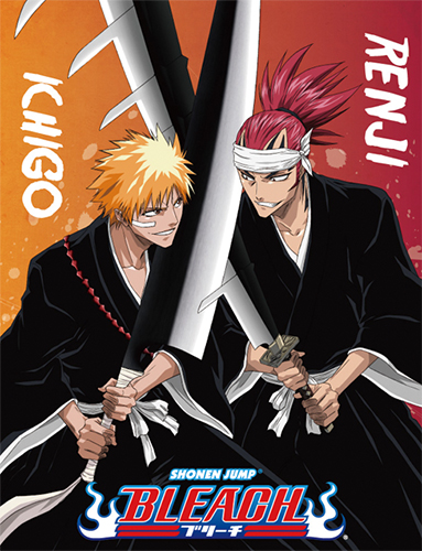 Bleach - Ichigo & Renji Sublimation Throw Blanket officially licensed Bleach Blankets & Linen product at B.A. Toys.