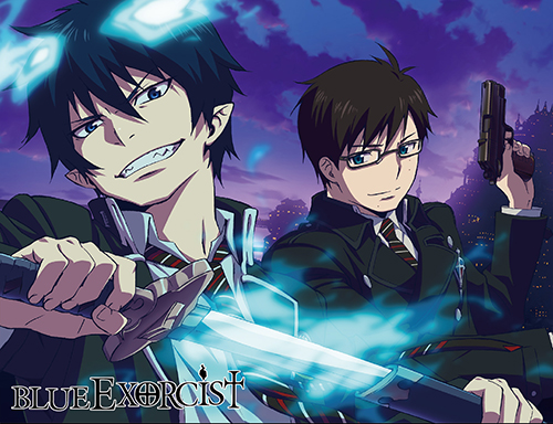 Blue Exorcist - Rin & Yukio Sublimation Throw Blanket officially licensed Blue Exorcist Blankets & Linen product at B.A. Toys.